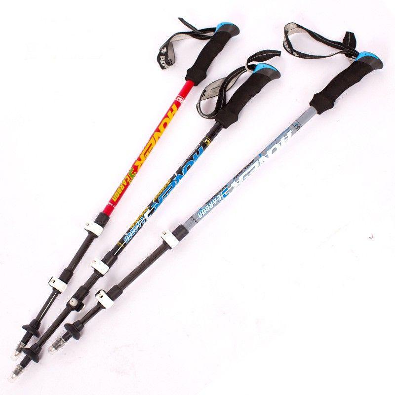new ultralight carbon fiber trekking poles walking stick for wandelstok alpenstock ski sticks climbing equipment