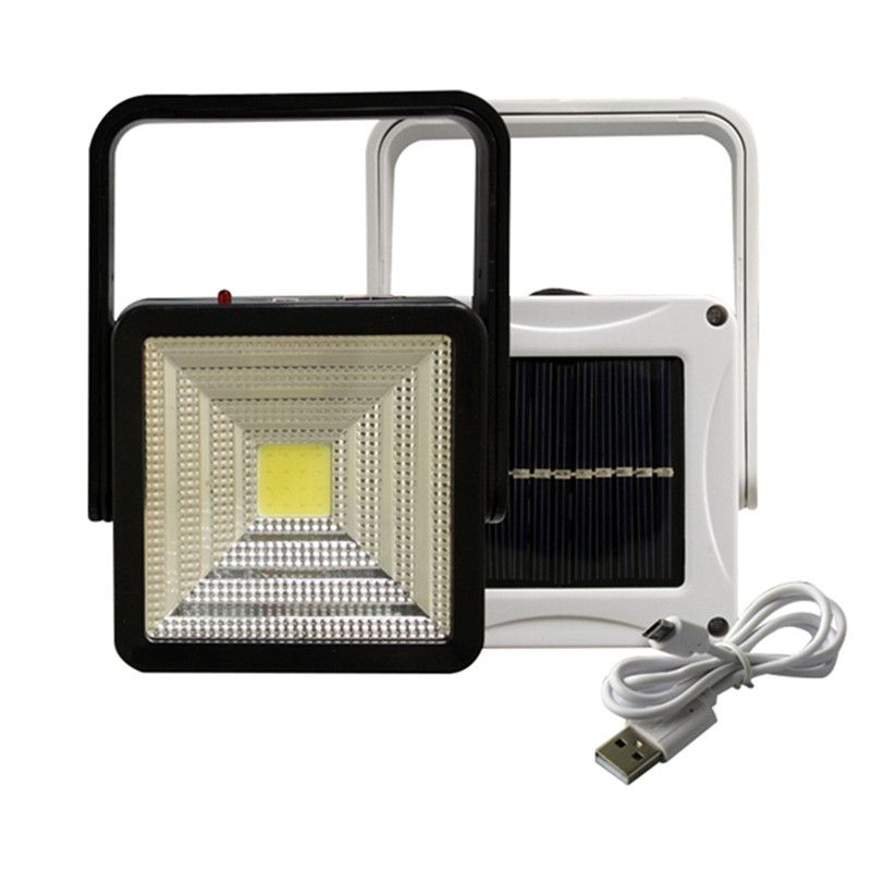 Mising 2W Rechargeable Portable Solar LED Flood Light Outdoor Camping Emergency Lamp USB Charging