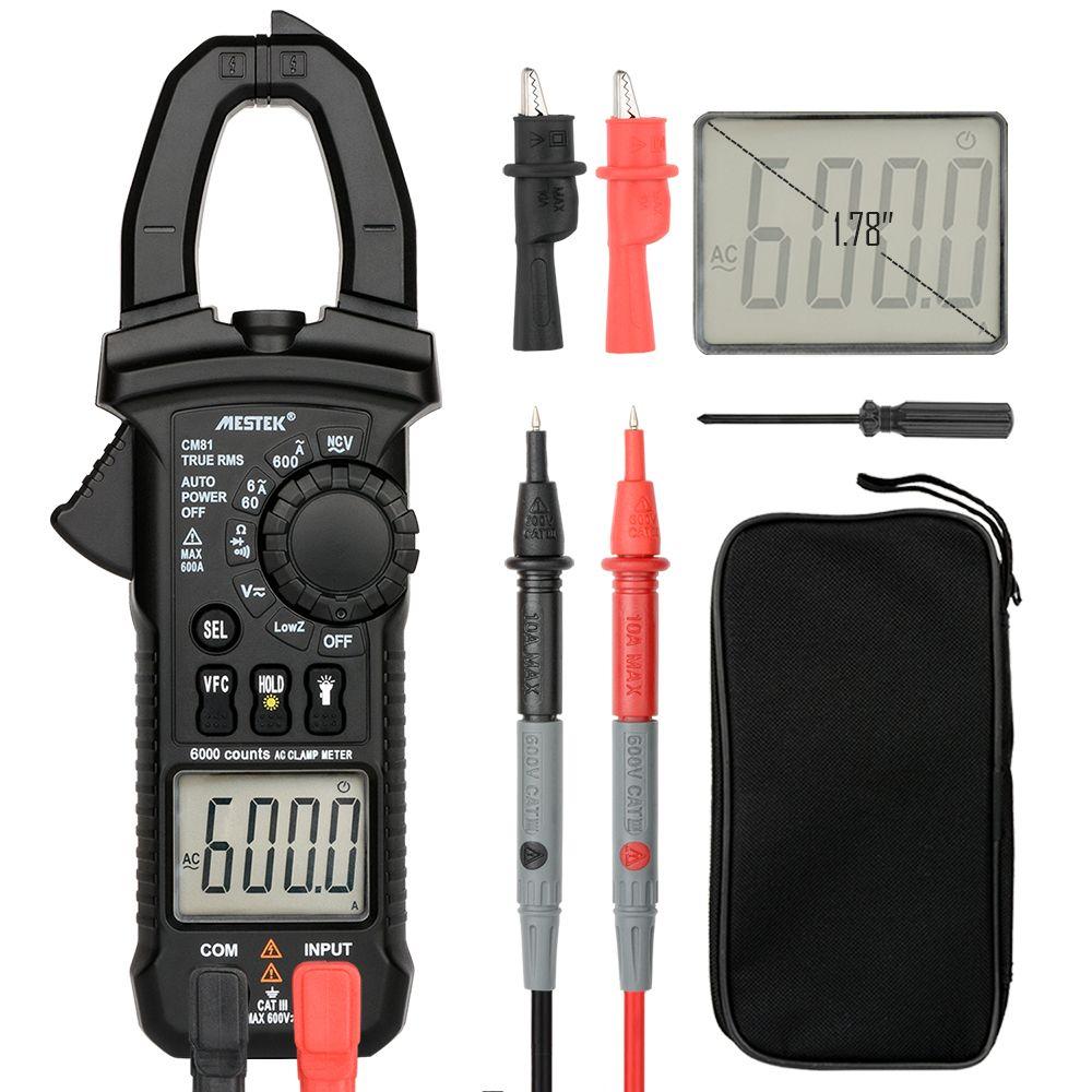 MESTEK pince numérique multimètre pince de courant pinces AC/DC tension testeur de résistance outils de mesure aliquer amperimetro