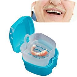Пластик протез Дело Организатор Для ванной Box Дело зубные накладные зубы коробка для хранения с крылом контейнер