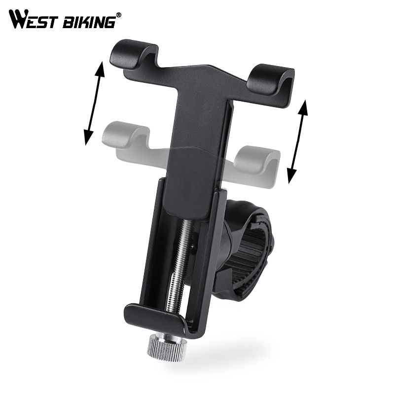 WEST BIKING Bike Phone Holder 360 Degree Rotation Phone Stand 3.5 <font><b>Inch</b></font> to 6.2 <font><b>Inch</b></font> Universal for Motorcycle Bicycle Handlebar