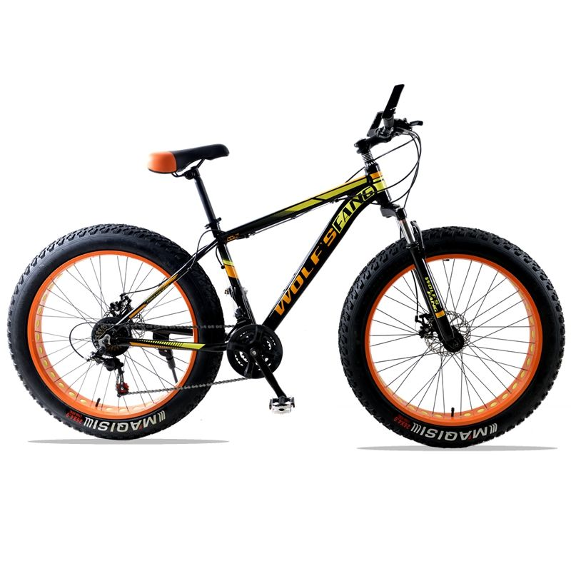 Mountain bike 21/24 speed Aluminum alloy road bike Fat bike Brand bicycle Front and Rear Mechanical Disc Brake Spring Fork