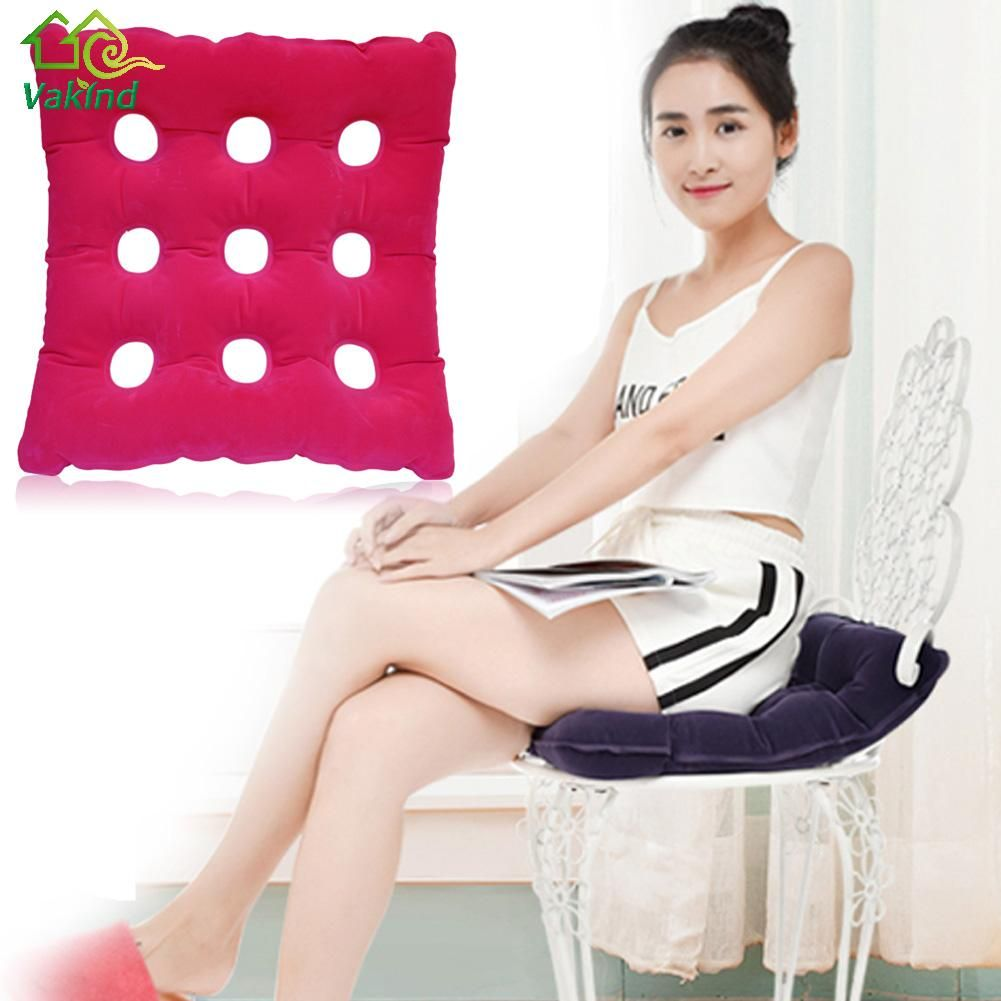 Health Care Inflatable Chair Cushion Air Seat Cushion Waffle Seat Cushion Heat Sealed for Home Office Car Chair Pad