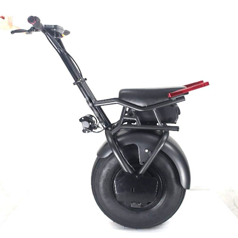 Powerful 18inch wide tire electric bike motorcycle one wheel with seat 45km Range
