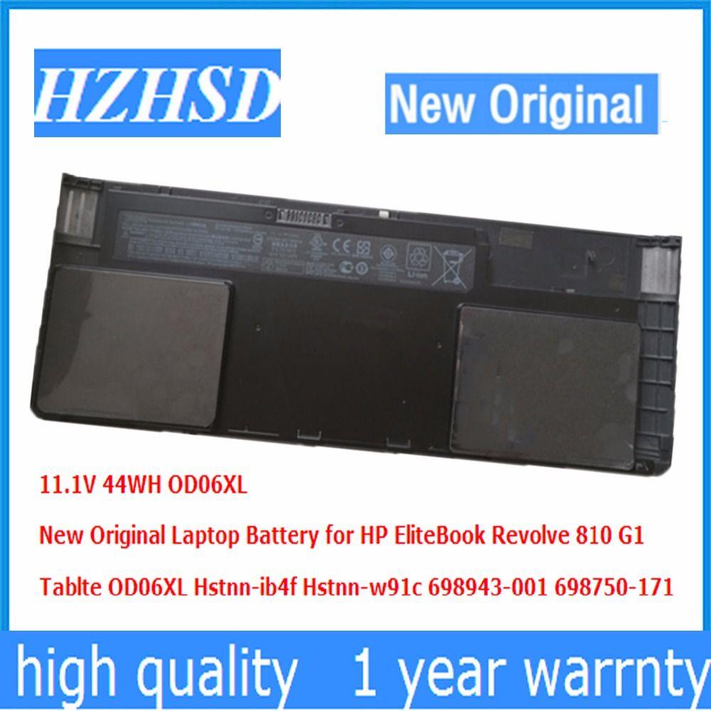 11.1V 44WH New Original OD06XL Laptop Battery for HP EliteBook Revolve 810 G1 Tablte Hstnn-ib4f Hstnn-w91c 698943-001 698750-171