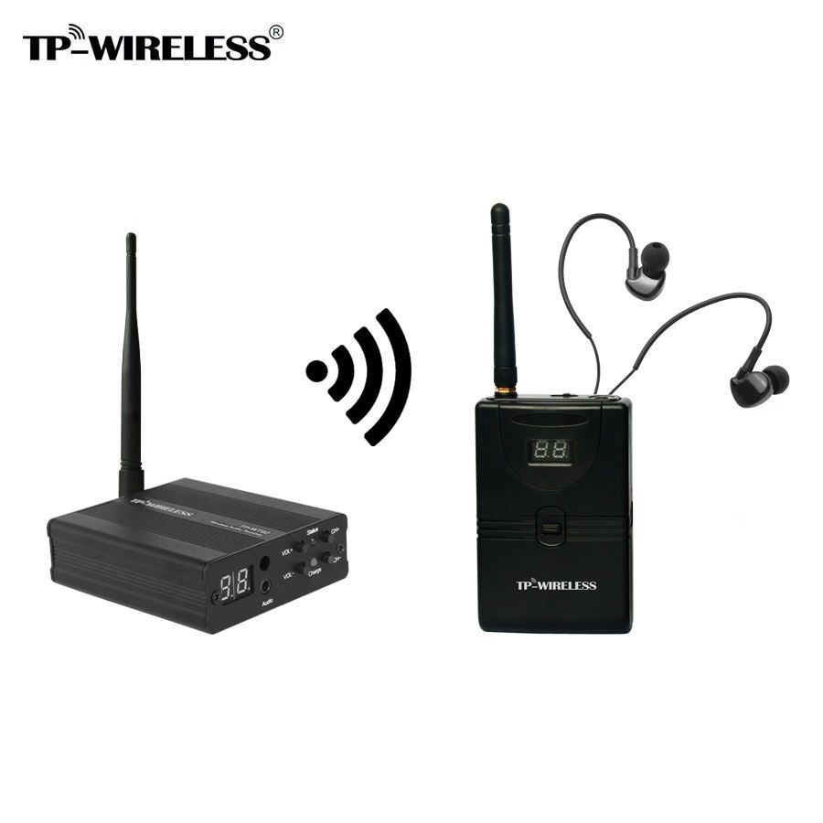TP wireless In Ear Monitor System 2.4GHz Professional Digital Wireless In Ear Monitor Stage In Ear Audio System Earphone Stage