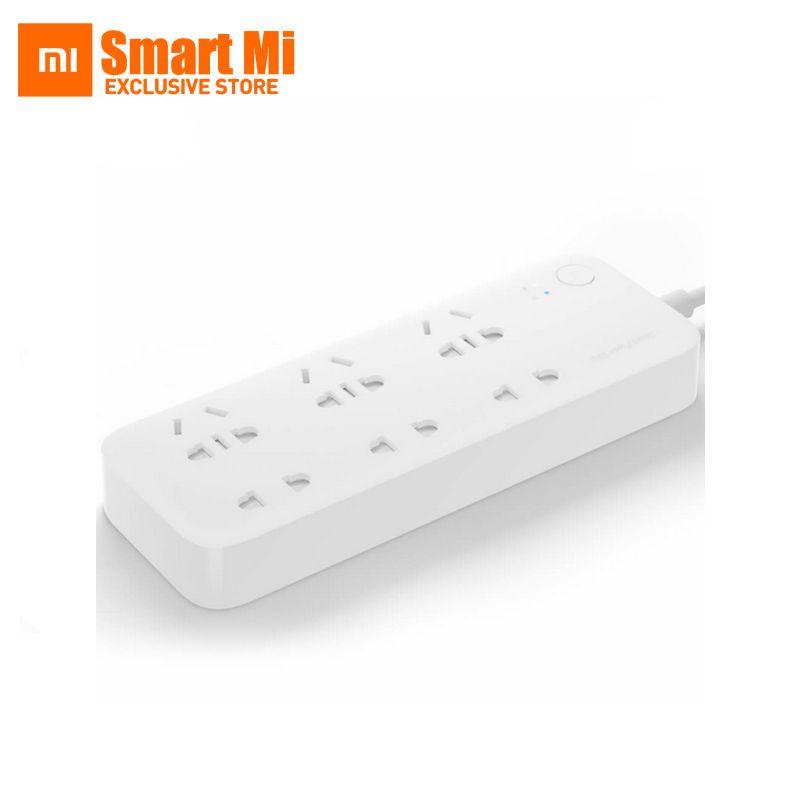 New Original Xiaomi Mi Maison Intelligente Bande Socket Prise Plug Smart Bande de puissance avec Wifi app télécommande pour TV home kit