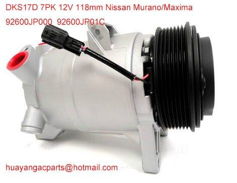 Factory direct sale auto parts ac compressor DKS17D for Nissan Murano 92600JP01C 92600-1JA1A 92600-JP00C 10000652 92600-JP01C