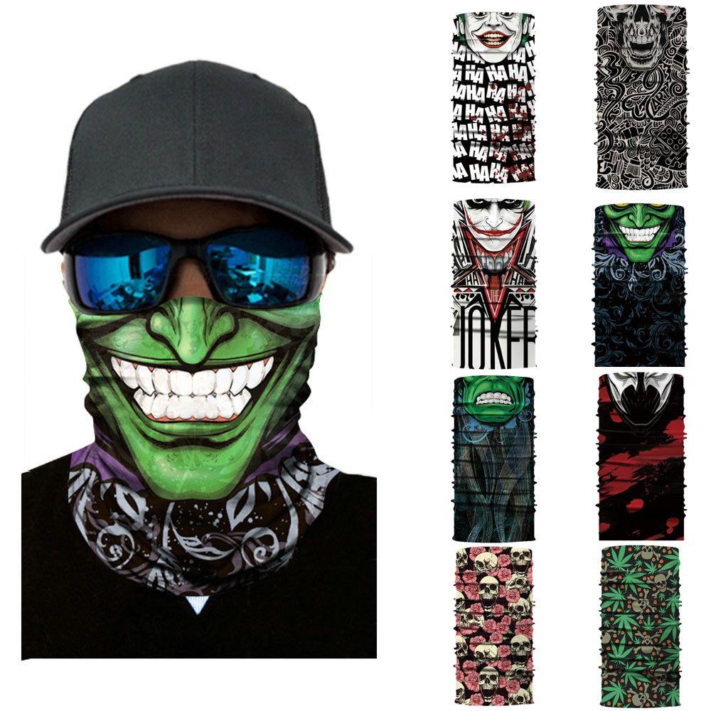 Cycling Motorcycle Head Scarf Neck Warmer Skull Face Mask Ski Balaclava Headband Mask Scary halloween Face Shield Outdoor