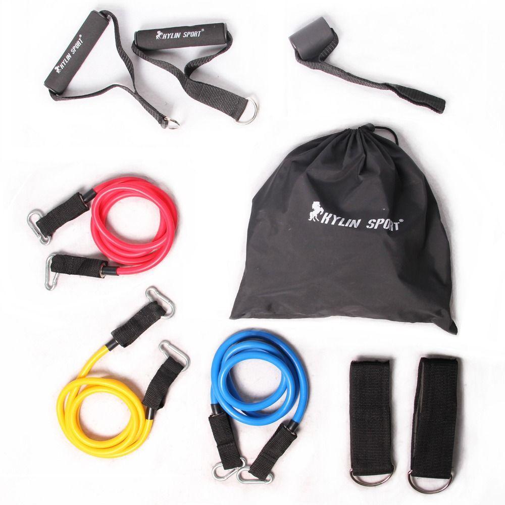 9 pièces/ensemble tirer corde et accessoires Yoga résistance exercice Gym Fitness Latex Tubes élastique entraînement livraison gratuite