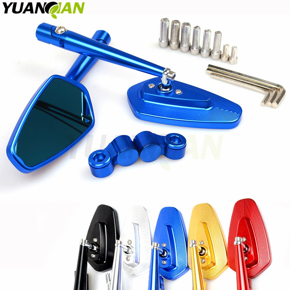 Mirrors Motorcycle accessories side Mirror CNC aluminum Mirror Rearview For yamaha FJR1300 1200 FZR 1000 TMAX 530 500 TMAX530