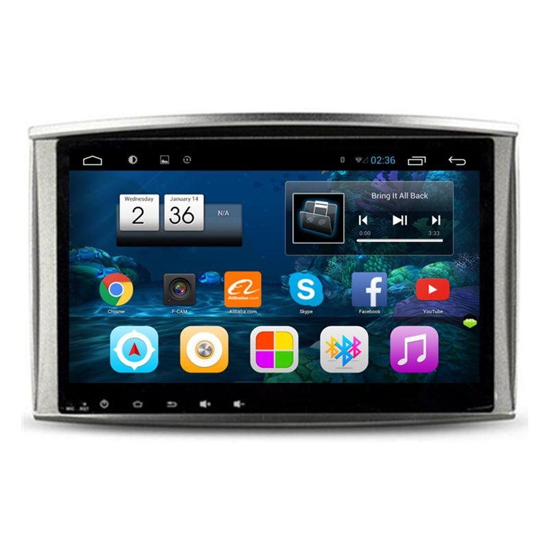 10.2 Quad Core Android Car Radio DVD GPS Navigation Central Multimedia for Lexus LX470 LX 470 Toyota Land Cruiser 100 LC100