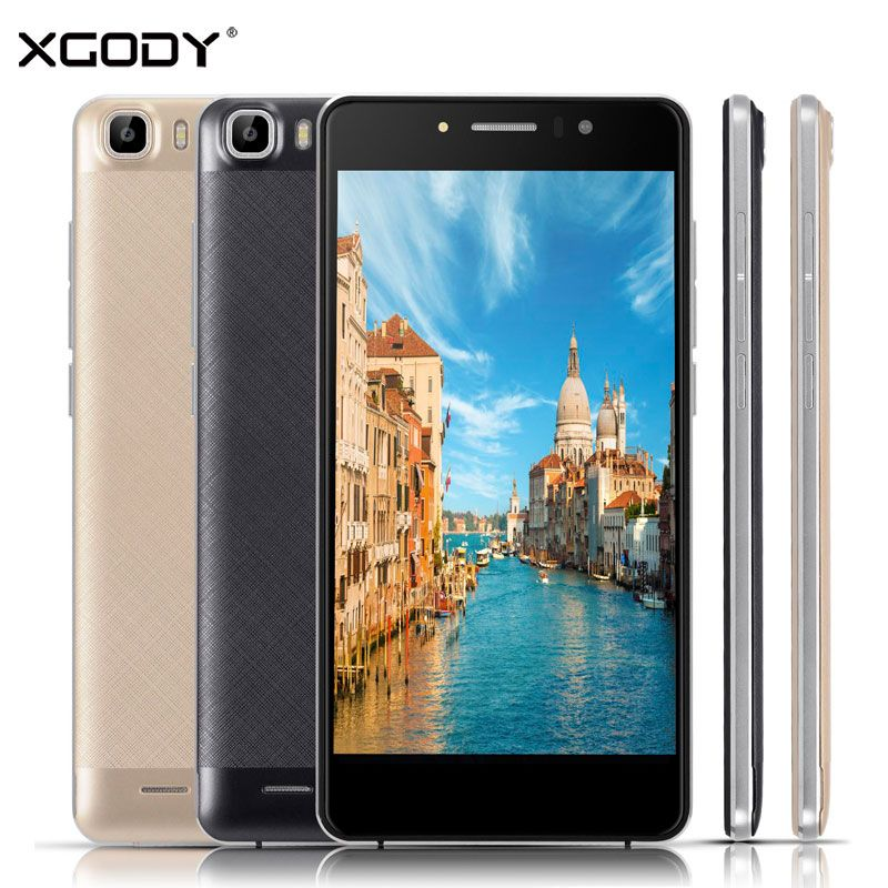 XGODY Timmy 5.5 Inch Smartphone RAM 1GB ROM 8GB Quad Core Android 5.1 8MP Camera Telefone Celular 3G Touch Android Phones