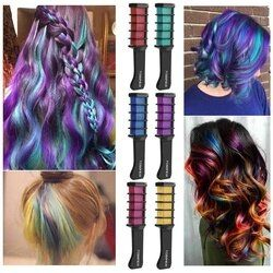1pc Hair Mascara New Design Crayons for Hair Color Chalk for the Hair Color Temporary Blue Hair Dye With Comb 8 colors