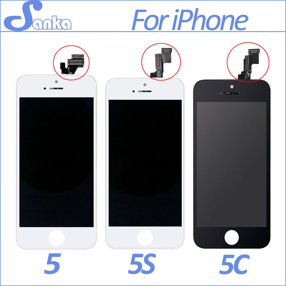 SANKA AAA Screen For Apple iPhone 5 5S 5C LCD Display Touch Screen Assembly With Digitizer Glass No Dead Pixel Phone Parts