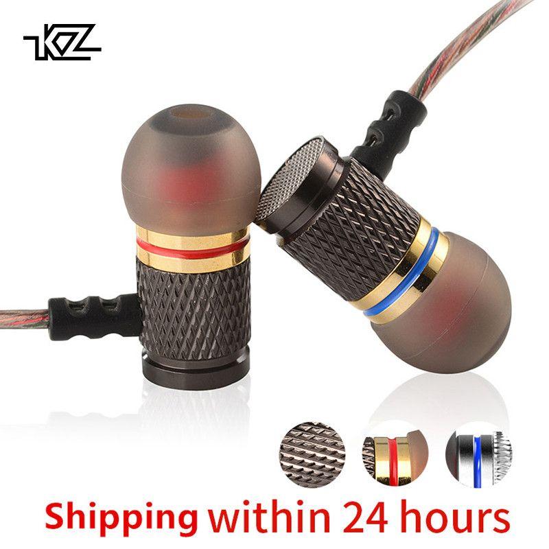 KZ ED Spécial Édition Or Plaqué Logement Écouteur avec Microphone 3.5mm HD HiFi Dans L'oreille Moniteur Basse Stéréo Écouteurs pour téléphone