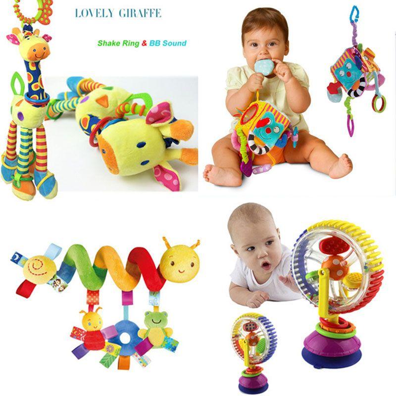 Doux jouets pour bébés 0-12 Mois Musicical berceau Poussette Jouet Spirale Jouets Pour Bébé 0-12 Trois Mois Éducation Jouets bebe Lit hochet cloche