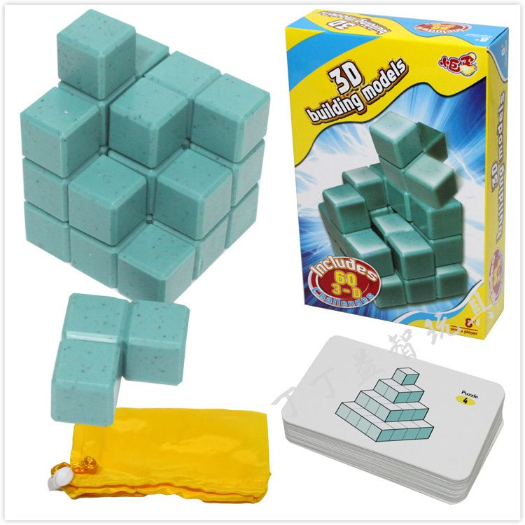 3D Cube Soma Puzzle IQ logique casse - tête Puzzles jeu pour enfants adultes