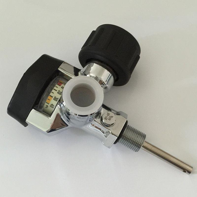 Black SCUBA valve Threading M18*1.5 high pressure 4500Psi carbon fiber cylinder valve with big gauge-V