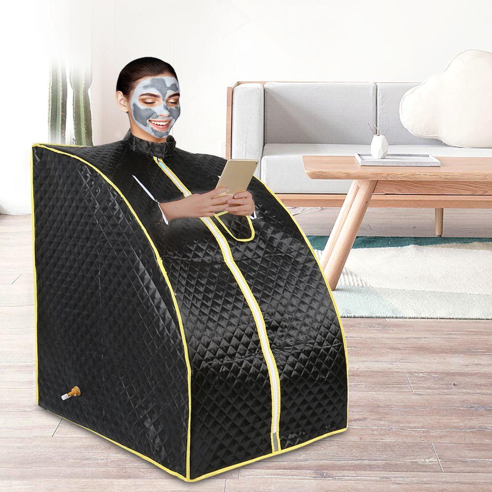 Dampf Sauna Tragbare Schwarz Sauna Zimmer Vorteilhaft Haut Detox Gewicht Verlust Kalorien Bad SPA mit Sauna Tasche Dampf Generator HWC
