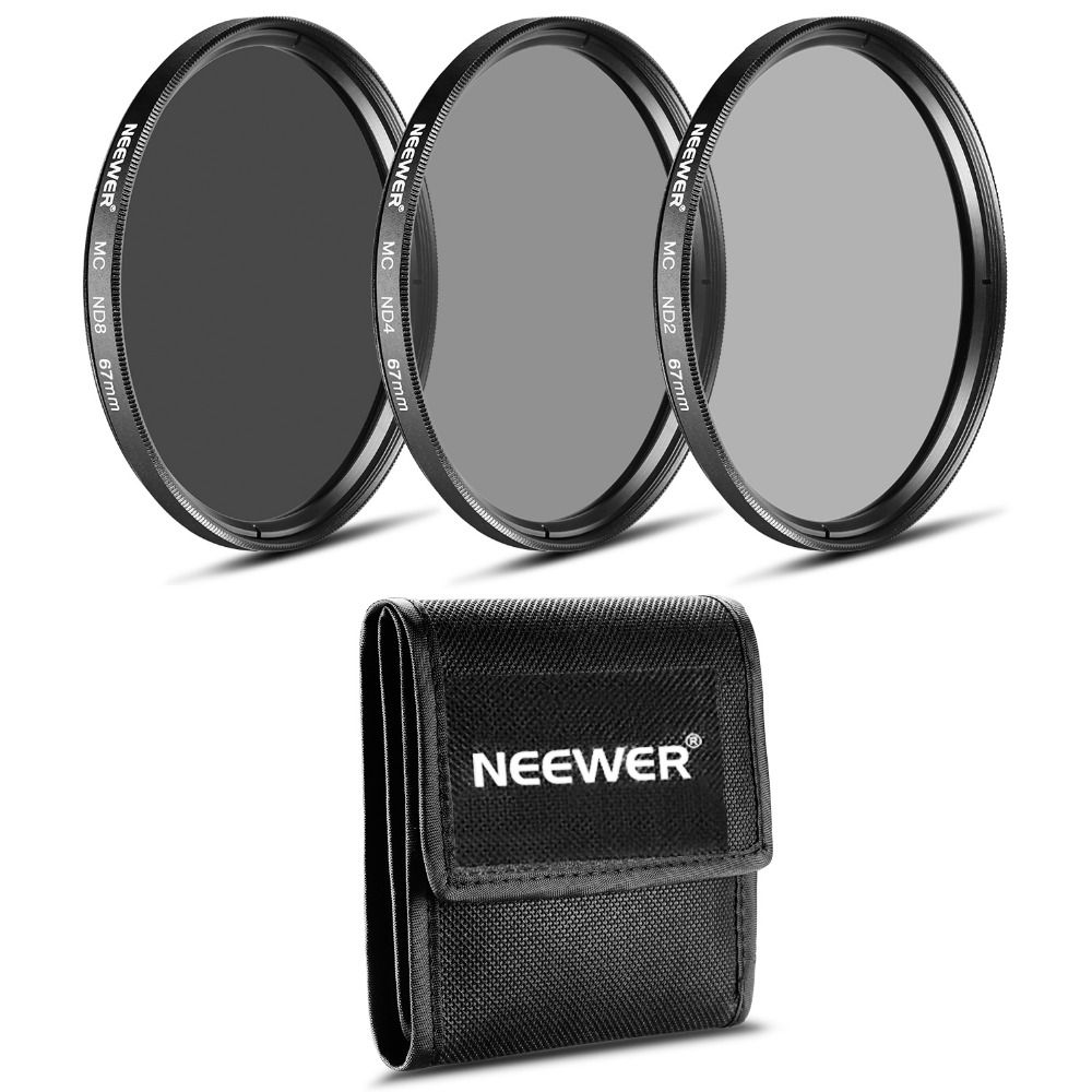 Neewer ND Filter Set (ND2 ND4 ND8)+Cleaning Cloth for CANON 18-135mm EF-S IS STM Lens/NIKON 18-105mm f/3.5-5.6 AF-S DXVR ED Lens