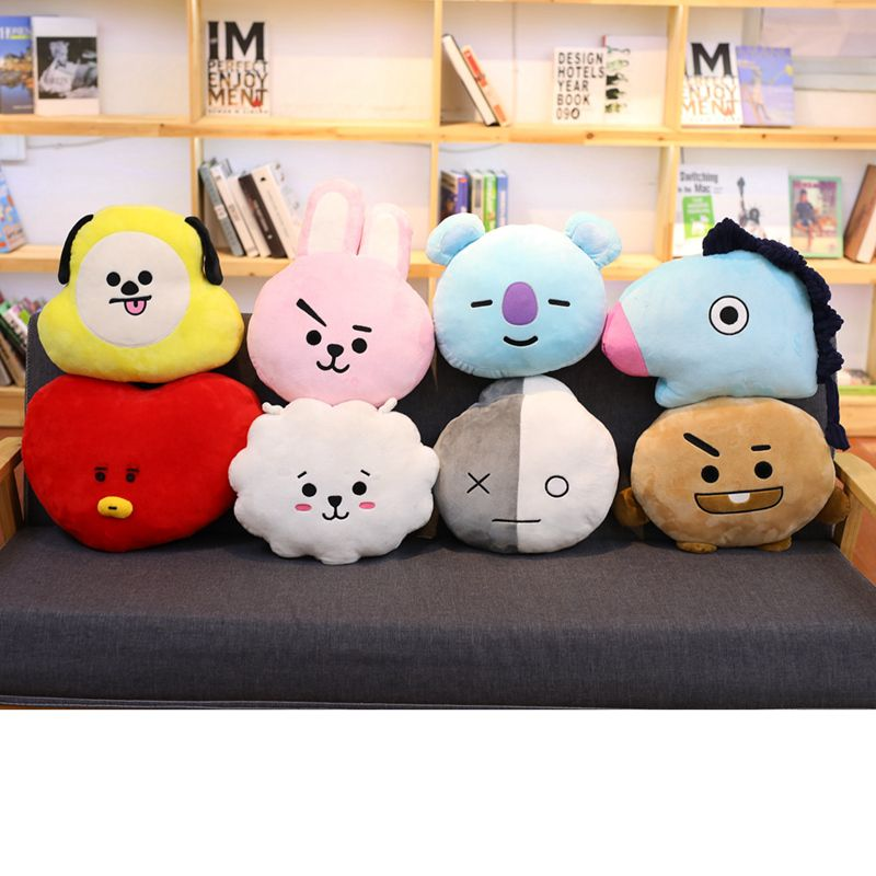 Miaoowa Bangtan Boys BTS bt21 Kawaii Pillow Plush Toy cushion TATA VAN COOKY CHIMMY SHOOKY KOYA RJ MANG Gift For Children