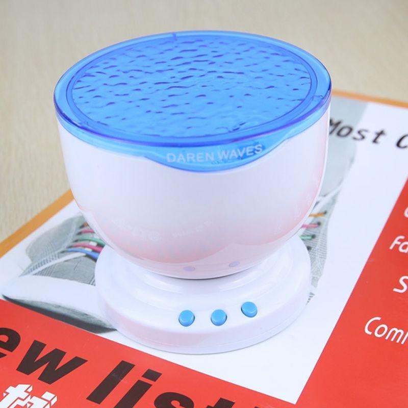 Jiawen océan mer vagues LED veilleuse projecteur haut-parleur lampe, cadeau de noël livraison gratuite