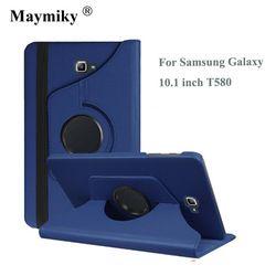 Pour Samsung Galaxy Tab Un A6 10.1 2016 SM-T580 T580N Tablet cas 360 Degrés Tournant le Stand En Cuir Housse De Protection + cadeau Gratuit