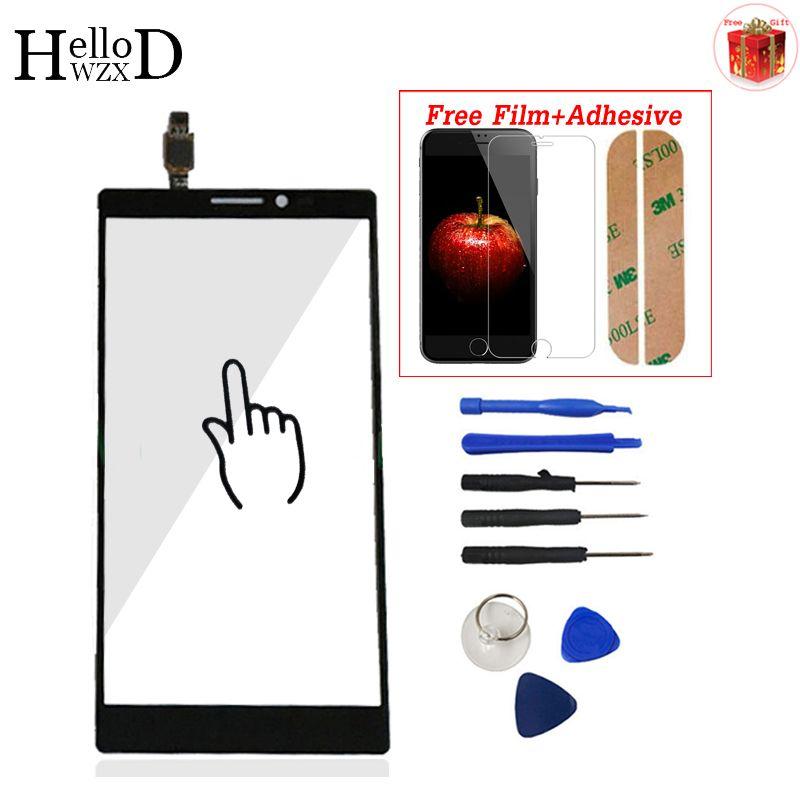 6 ''Für Lenovo Vibe Z2 Pro K920 Touchscreen Glas Digitizer Panel Frontglas Objektiv Sensor Werkzeuge Kleber + Displayschutzfolie geschenk