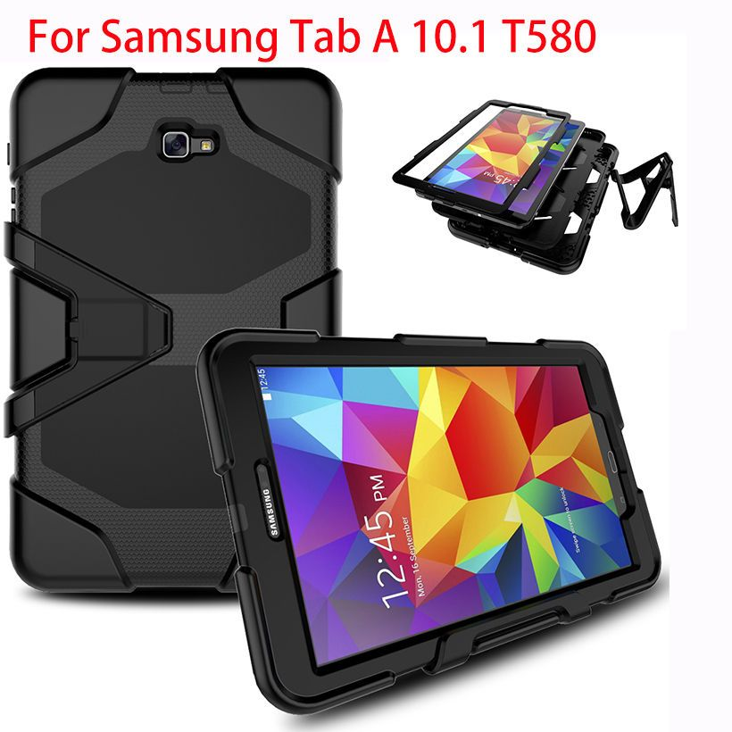 Étui pour samsung Galaxy Tab A A6 10.1 2016 T580 T585 SM-T585 T580N housse de protection tablette antichoc robuste avec support accrocher Funda