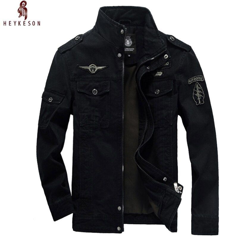 HEYKESON NEW 2018 Mens Green 3 Colors Military Jacket Winter Cargo Plus Size M-XXXL 5XL 6XL Casual Man Jackets Army Clothes