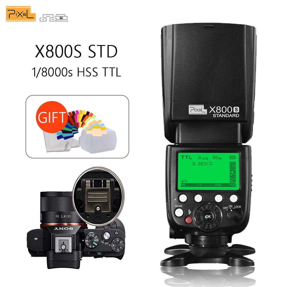 Pixel X800S Standard sans fil GN60 TTL HSS caméra Flash Speedlite pour Sony A7 A77 A7R RX1 A6000 A6300 DSLR Vs X800N Yongnuo