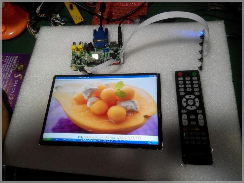 Free shipping free shipping HDMI+2AV+VGA+Rear View Driver Board+USB function+audio output+10.1inch B101UAN02.1 1920*1200 IPS LCD