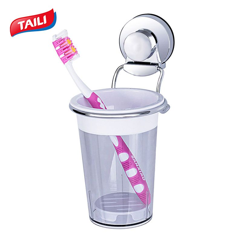 Chrome porte-brosse à dents crochet à ventouse Salle De Bains Accessoires Produit