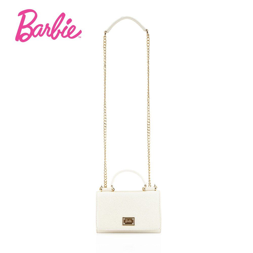 Barbie 2018 new Women Shoulder Bags lovely delicate PU Leather handbag fashion modern Cross body Bags Female Bags white color