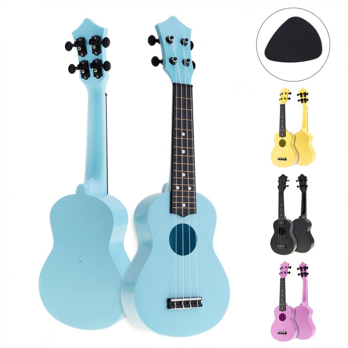 21 pouces coloré ukulélé acoustique Uke 4 cordes Hawaii guitare Guitarra Musica Instrument pour enfants et débutant de musique