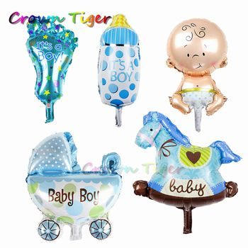 baby hat toy 5pc Cute cartoon Baby Boys Girls birthday Balloons Stroller Funny infant Kids classic Toys for Birthday decor Gift