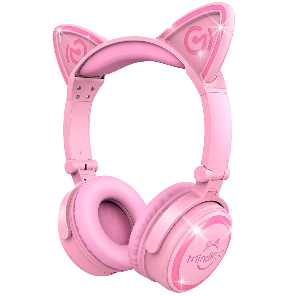 Mindkoo Wireless Bluetooth Cat Ear Headphone Portable Foldable Stunning Lights Haeadphones Fone de ouvido Good Gift for Child