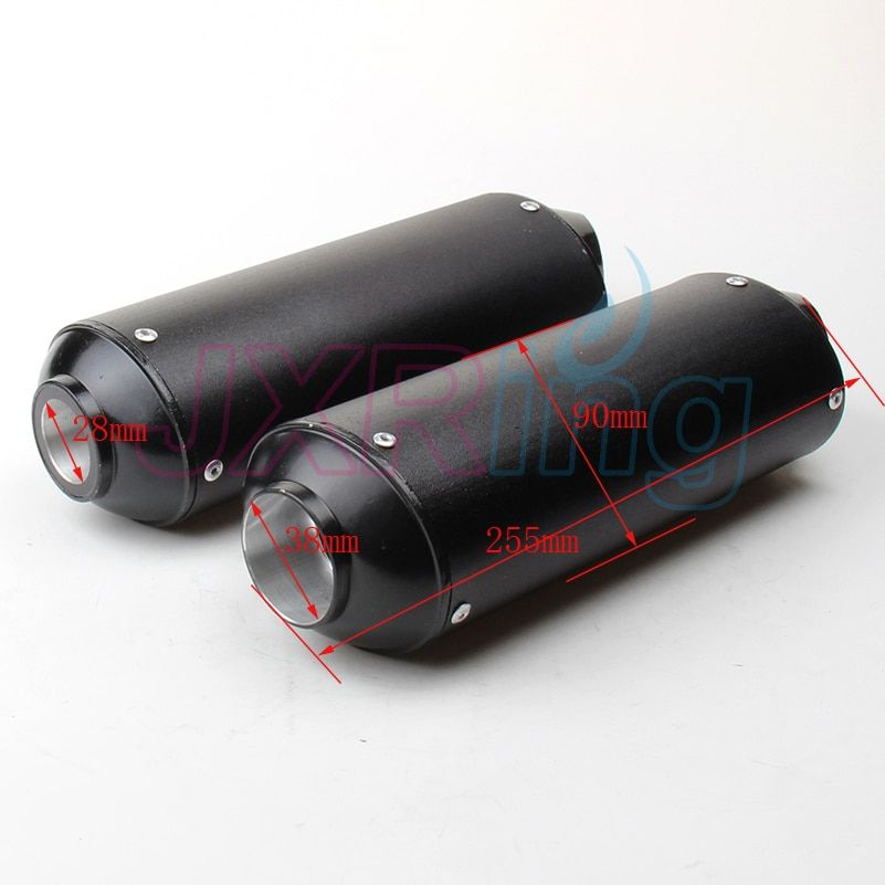 28mm/38mm Aluminum Exhaust Muffler For CRF50 Thumpstar SSR 140cc 150cc 160cc Pit Dirt Bike Motorcycle Motocross