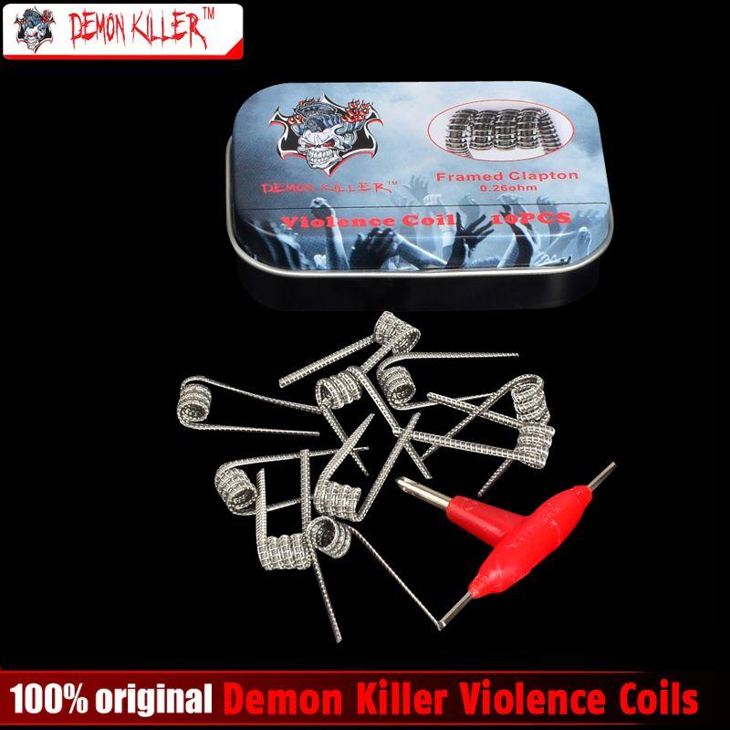 Demon Killer Violence Coil Prebuilt Coil Clapton Alien V2 Coil Spaced Clapton Tsuka Coil for  E Cig RDA & RBA Atomizer or Tank
