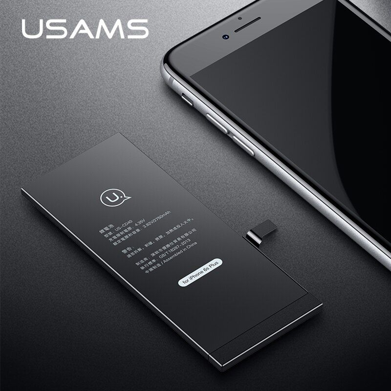 Für iPhone 6 S Plus Batterie USAMS Original Für iPhone6S Plus Handy Lithium-Batterie Kapazität 2750 mAh Bank mit Werkzeuge