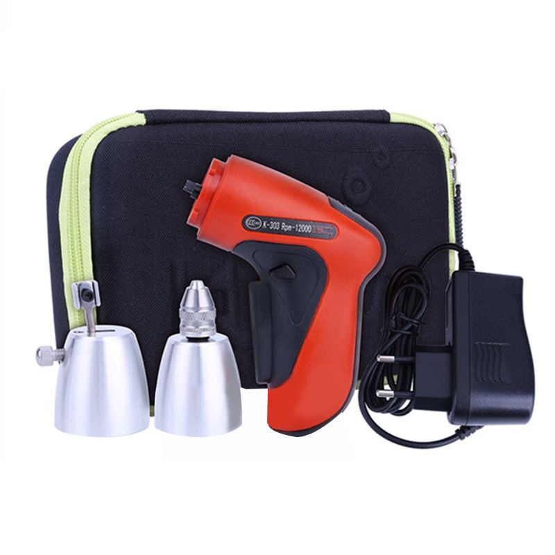 Klom 3.6V Handhold Battery Cordless Drill Electrical Tools Maintenance Tool Kit Sets for Professional Locksmith Use,Mini Drill