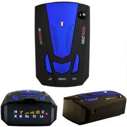 Viecar Voiture Radar Détecteur Anglais Russe Auto 360 Degrés Véhicule V7 Vitesse Voix Alerte Alarme Avertissement 16 Bande LED Affichage