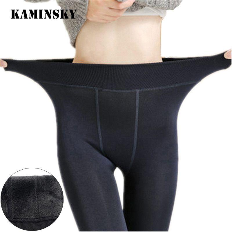 Kaminsky collants pied sans couture bas beauté automne hiver chaud velours cheville longueur robe Sexy femmes dame pieds collants