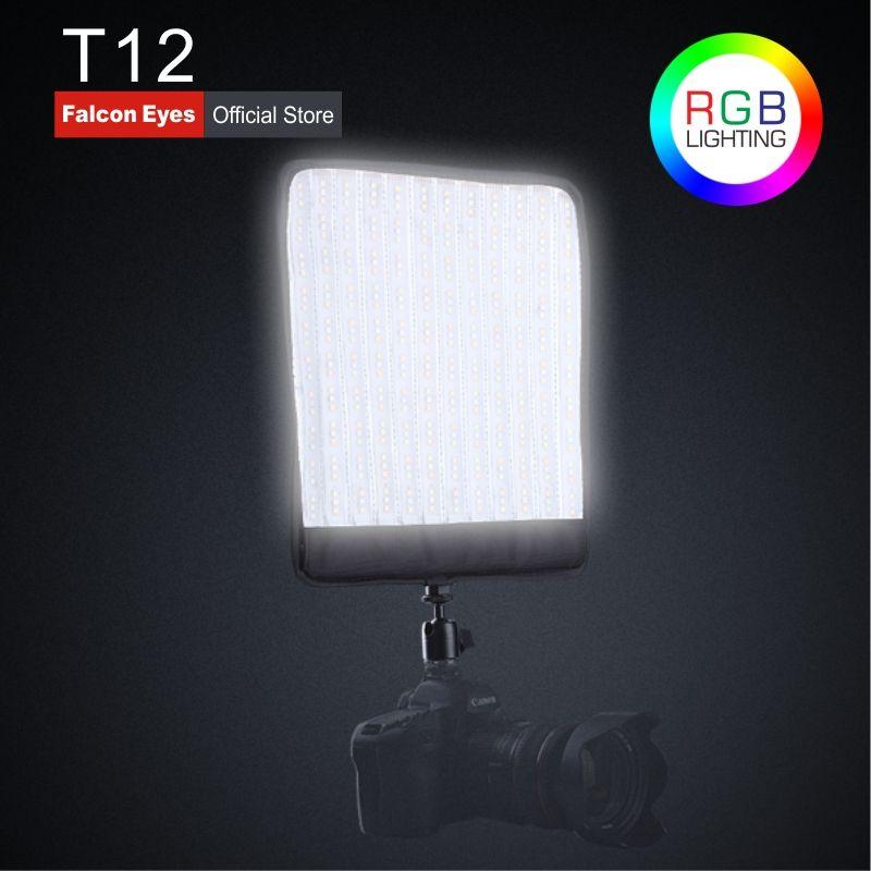 Falcon Eyes 50W LED RGB Kamera Beleuchtung Bi-Farbe 2700 K-9999 K LED Foto Lampe Tragbare studio Video Licht Mit Batterie & Fall T12