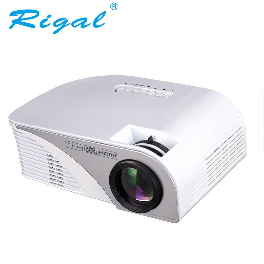 Projecteur Rigal RD805B 1200 Lumens LED Mini projecteur WiFi 1080 P 3D projecteur vidéo Home cinéma HDMI USB VGA AV Android projecteur