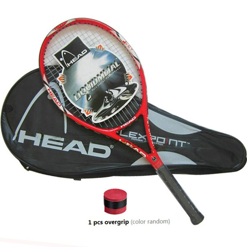 High Quality Carbon Fiber Tennis Racket Racquets Equipped with Bag Tennis <font><b>Grip</b></font> Size 4 1/4 racchetta da Tennis Free Shipping