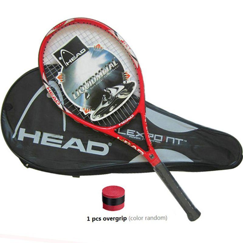 Hohe Qualität Kohlefaser Tennisschläger Tennisschläger Ausgestattet mit Tasche Tennis Grip Größe 4 1/4 racchetta da Tennis Kostenloser Versand