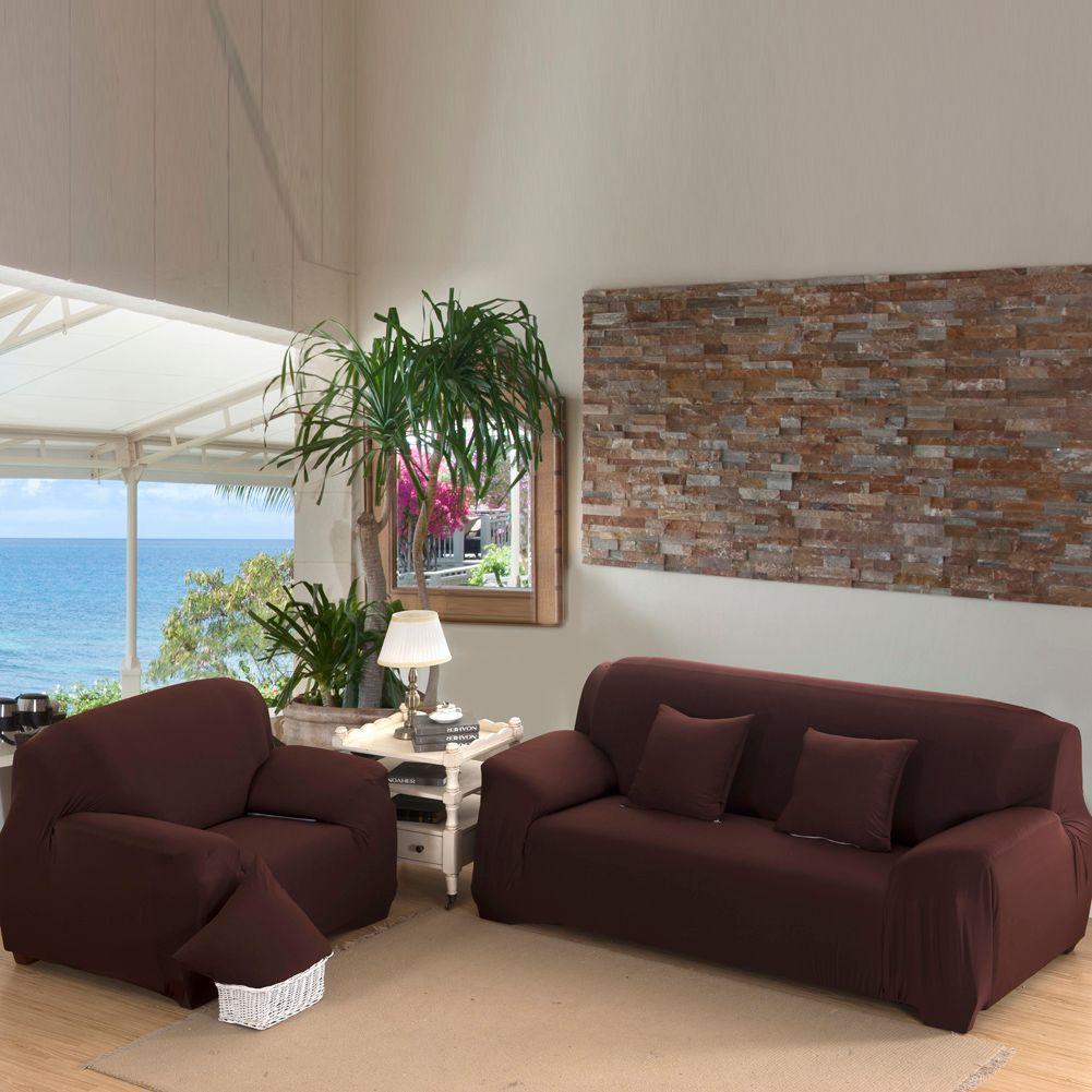 <font><b>Flexible</b></font> Stretch Sofa Cover Big Elasticity Couch Cover Loveseat Sofa Funiture Cover Brief Design Machine Washable Sofa Slipcover
