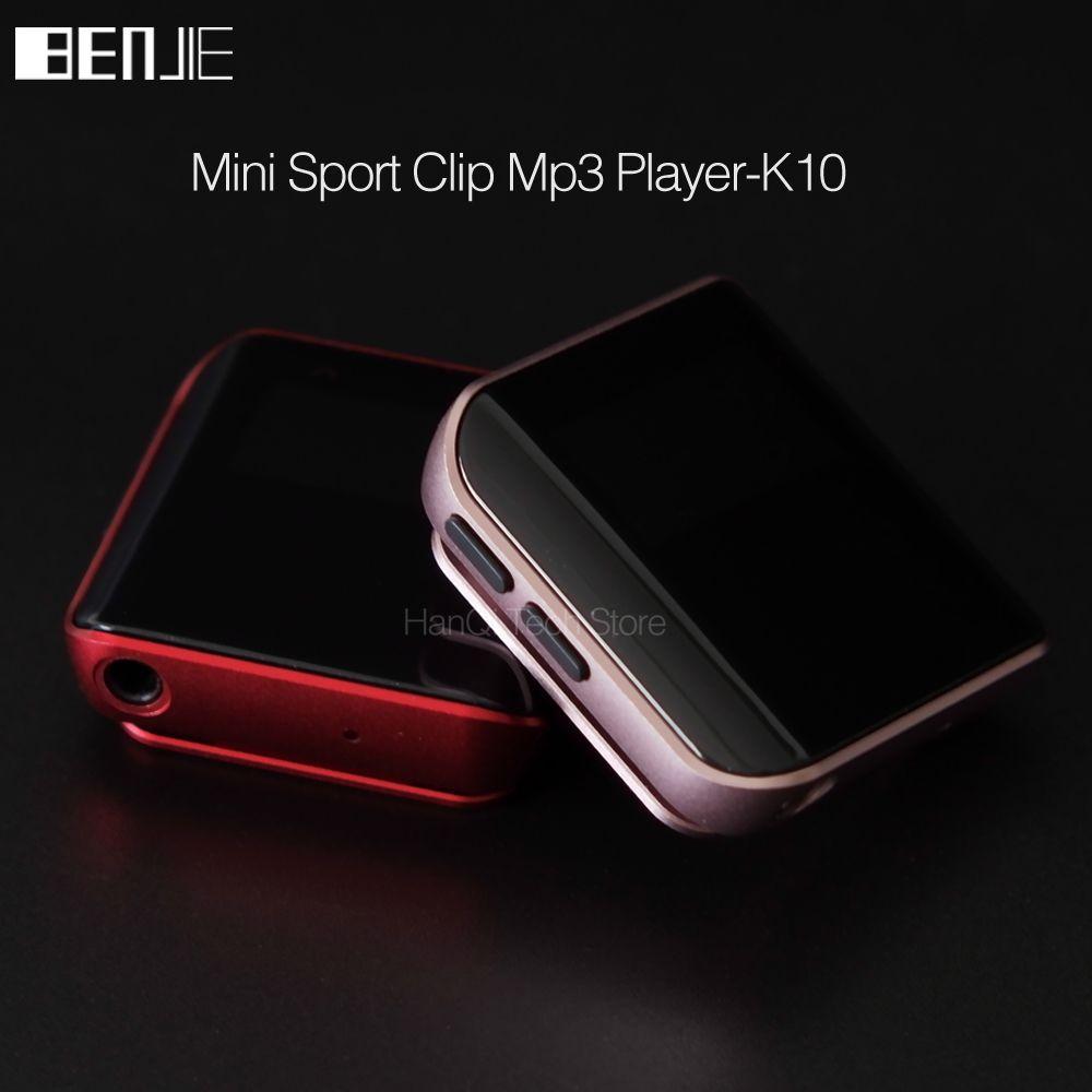 Neue Original Benjie K10 Mini Clip Mp3-player Tragbare 8G sport MP3 Musik-player Hohe Klangqualität Verlustfreie Player Mit FM